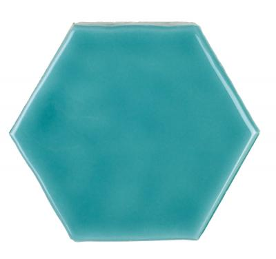 Art Deco Glossy on Mesh Aqua Marine (7,9x9,1-16pz)	32x28
