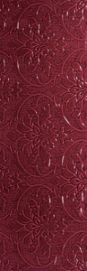 Lotus 300x900 Wall Base Burgundy Glossy