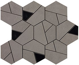 Мозайка Atlas Concorde Boost Smoke Mosaico Hex Black (AN69) 25x28,5 AN69