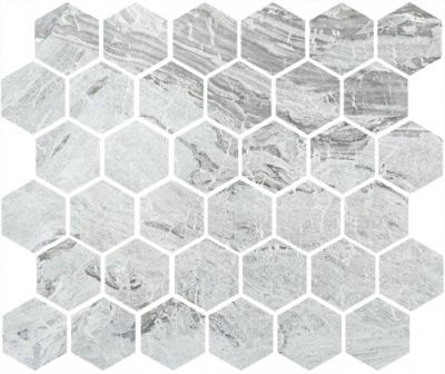 Мозаика MISTO HEXAGON GREY LAPPATO 245x280