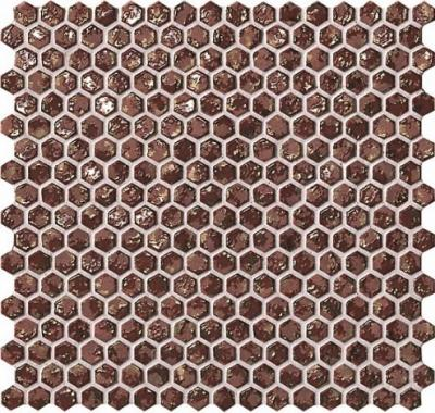 Мозаика 6DHR Dwell Rust Hexagon Gold 30x30