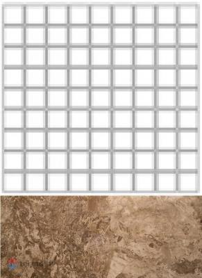 Мозаика FOSSIL Чип 3,5*3,5 BROWN FULL LAPPATO 300x300