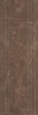 Avangard 400x1200 Wall Line Decor Brown Glossy